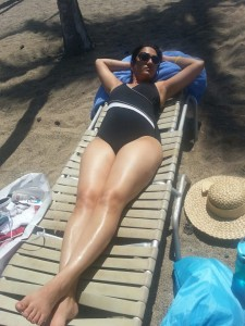 Soaking in the sun - healthy and relaxing