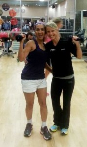 Me and my fitness trainer Donna Davis