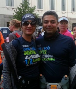 My husband, Vipul joined me in the run